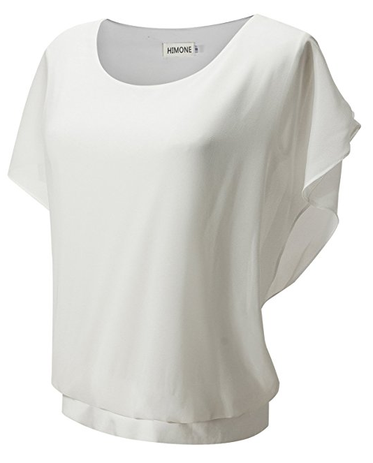 Kurzarm Fledermaus T-Shirt