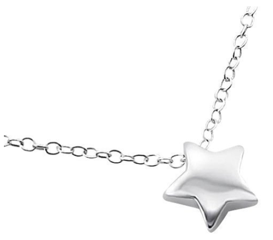 Laimons Damen-Halskette Stern glanz mit Kette 45cm Sterling Silber 925