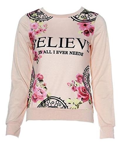 Malloom Damen Blumen Sweatshirt