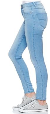Noisy May Damen Slim Jeans blau