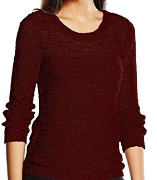 ONLY Damen Onlgeena Xo Pullover Knt Noos rot