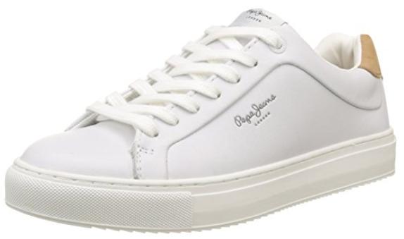 Pepe Jeans Damen Adams Basic Sneakers weiß