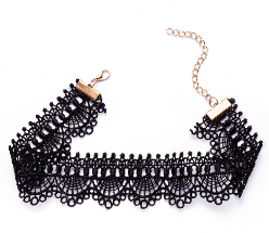 Black Wave Shaped Wrap Choker Set