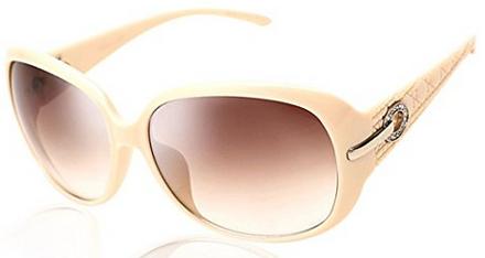 Duco Klassische Modische Damen Sonnenbrille beige