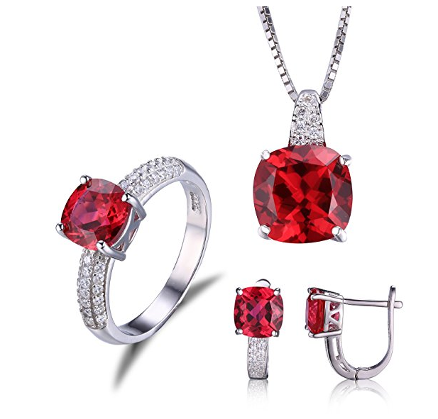 Jewelrypalace Schmuck Set rot