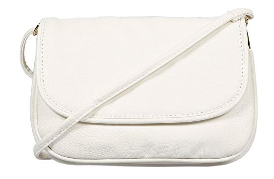 Kleine Damentasche weiß