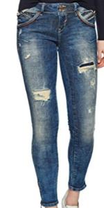 LTB Jeans Damen Slim Jeans Rosella blau