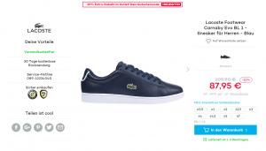 Lacoste Carnaby Sneaker Angebot