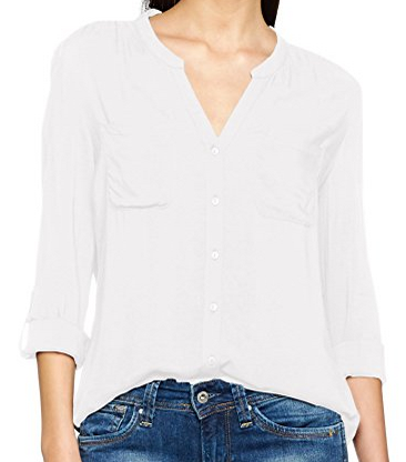 ONLY Damen Bluse Onlfirst Ls Pocket Shirt Noos