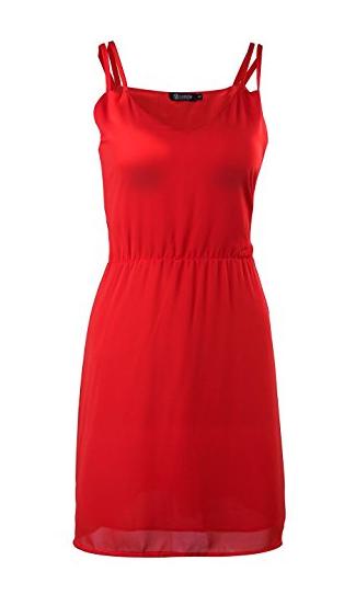SUNNOW Sommerkleid rot