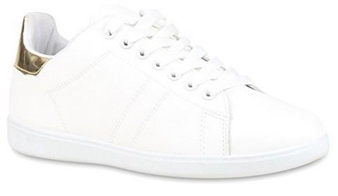 Stiefelparadies weißgold Sneaker