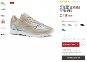 Reebok Classic Leather Pearlized Sale