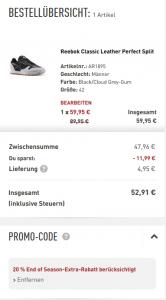 reebok classic leather perfect split sale