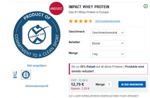 Myprotein Impact Whey Protein Sale