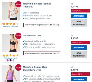 myprotein sommerbekleidungs sale