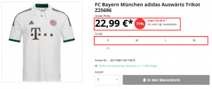 FC Bayern München Auswärts Trikot SALE
