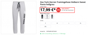 zoo york trainingshose sale