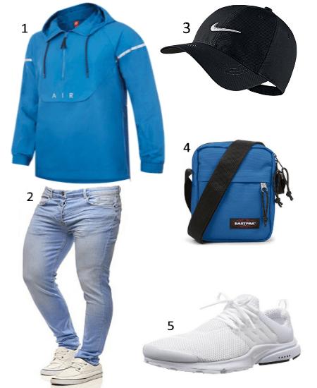 Windbreaker Blau Outfit