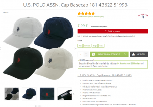 U.S. POLO ASSN. Basecap Sale