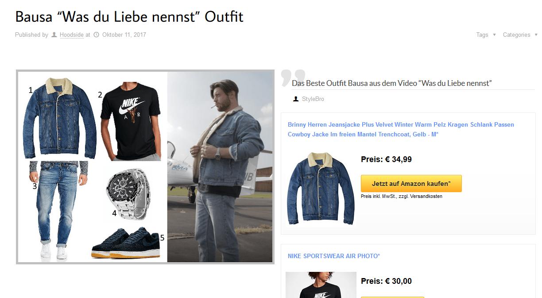 Bausa Partner Beispiel für Outfit