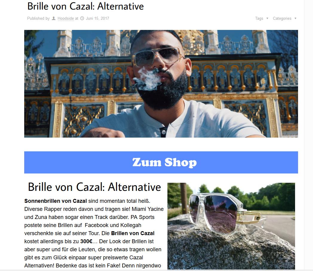 Brille von Cazal Partner Beispiel