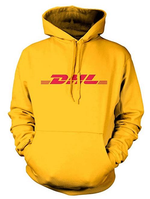 DHL Postboten Hoodie Gelb