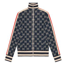 Gucci Jacke aus Baumwolle mit GG Jacquard