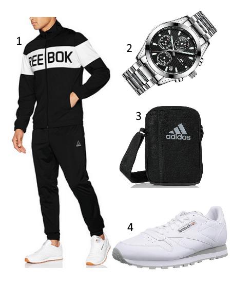 neue Sachen am besten bewertet neuesten neuer & gebrauchter designer Reebok Trainingsanzug Outfit mit Classics Sneakern – Hoodside