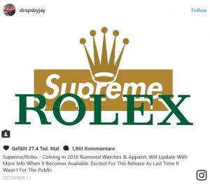 Rolex Supreme