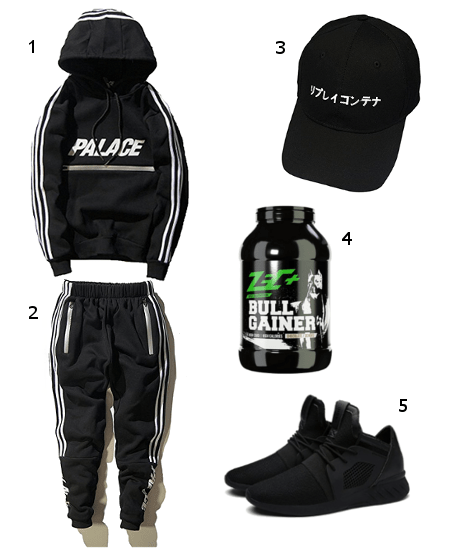 Minetom Trainingsanzug Gym Outfit