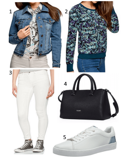 save off ebb3d 2407c Damen Jeansjacke Outfit – Hoodside
