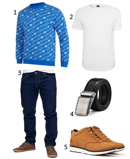 adidas All Over Print Crew Outfit