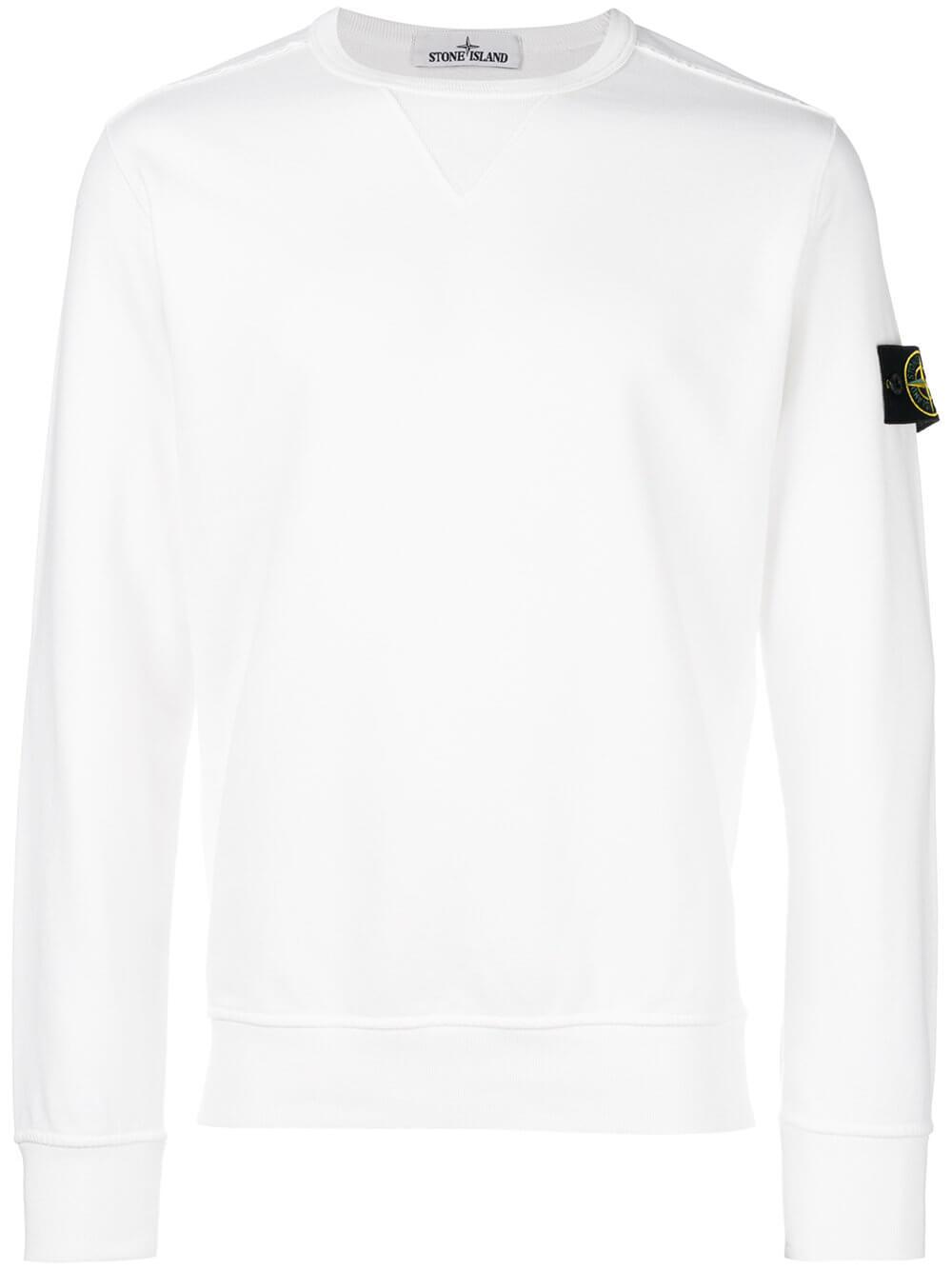 Stone Island Sweatshirt mit Logo-Patch