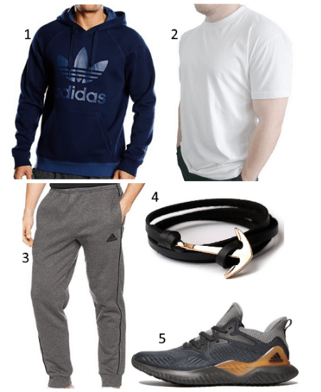 Navy adidas Hoodie Outfit