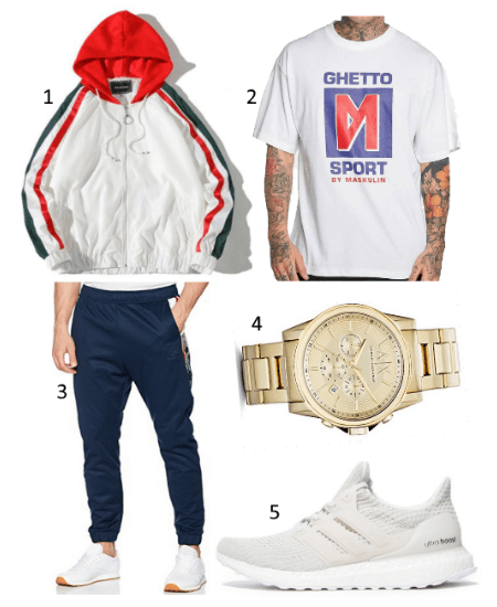 Outfit mit Ghetto Sport by Maskulin Shirt