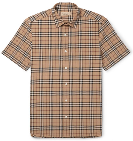 BurberryChecked Cotton-Poplin Shirt