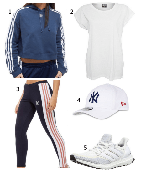 Damen Outfit mit California Hoodie