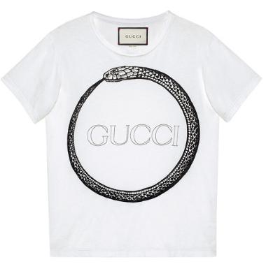 Gucci Ouroborors'T-Shirt mit Print