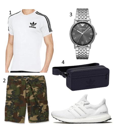 Herren Camo Shorts Outfit