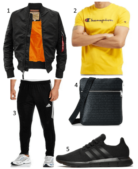Outfit mit Armani Jeans Schultertasche