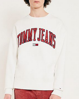 Tommy Jeans – College-Sweatshirt in Weiß