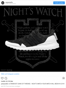 Game of Thrones Sneaker Nights Watch