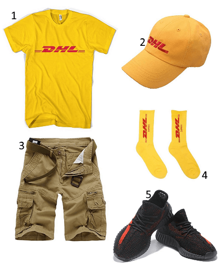 DHL Postboten Outfit
