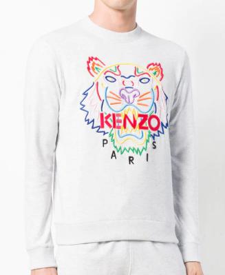 KENZO Sweatshirt mit Tiger-Stickerei