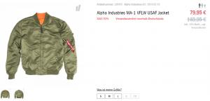 Alpha Industries Bomberjacke Sale