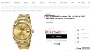 LX Rolex Uhr gold