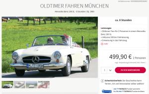 Oldtimer Mercedes SL mieten bei MyDays