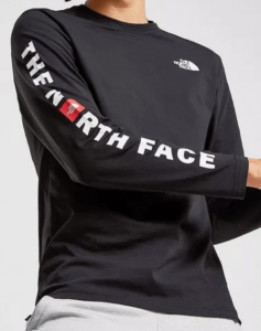 The North Face Long Sleeve mit Schriftzug am Arm