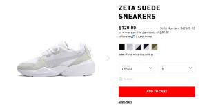 Zeta Puma Sneaker von Summer Cem