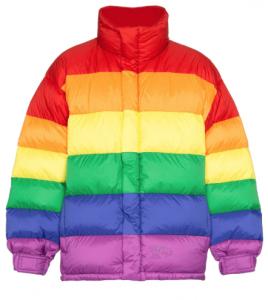 Burberry Daunenjacke im Regenbogen-Look